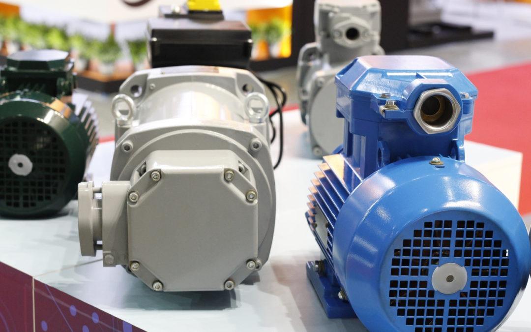 Moteur électrique triphasé pour application industrielle